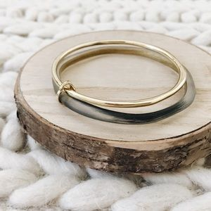 Alexis Bittar Liquid Metal Paired Bangle NWOT